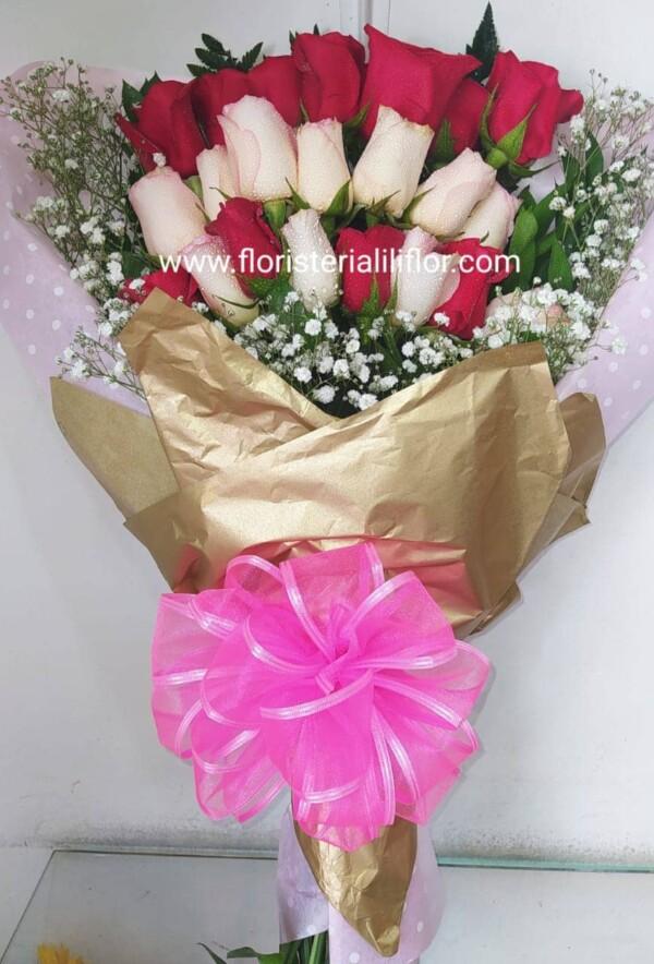 Ramo de rosa colores surtidos